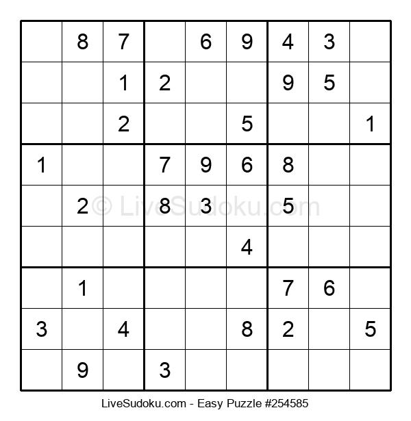 Beginners Puzzle #254585