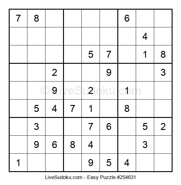 Beginners Puzzle #254631