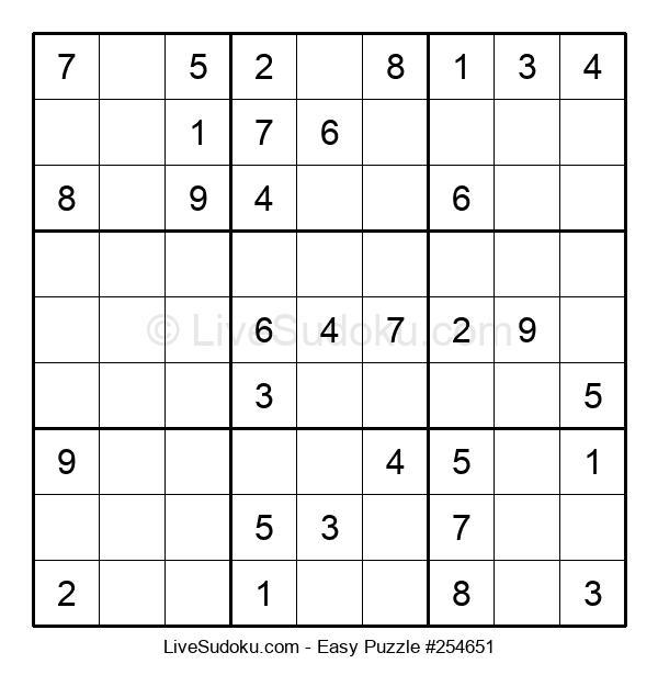 Beginners Puzzle #254651