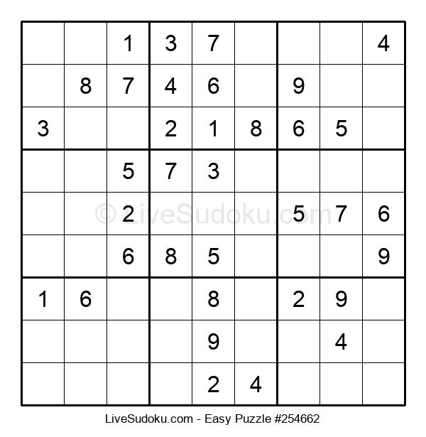 Beginners Puzzle #254662