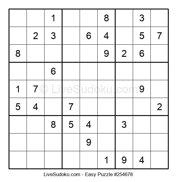 Beginners Puzzle #254678