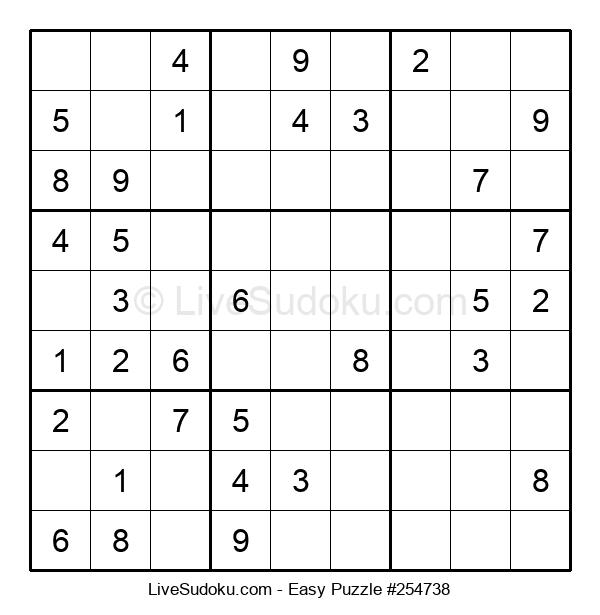 Beginners Puzzle #254738