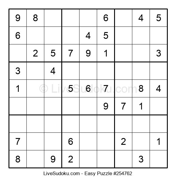 Beginners Puzzle #254762