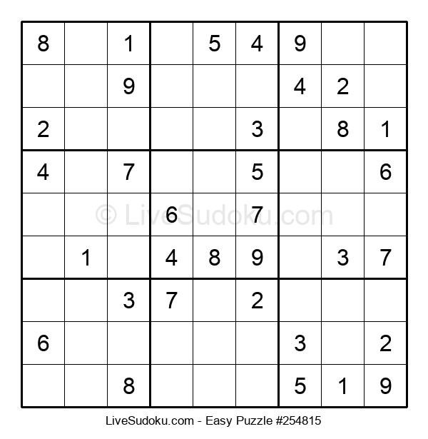 Beginners Puzzle #254815