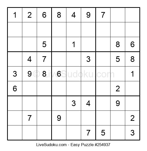 Beginners Puzzle #254937