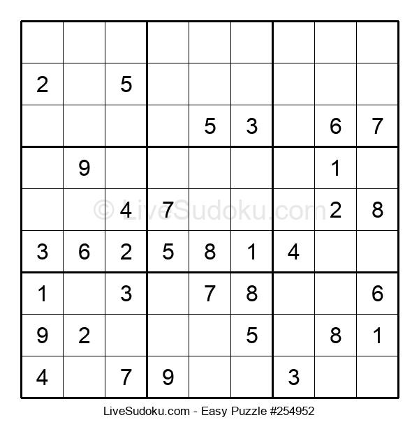Beginners Puzzle #254952