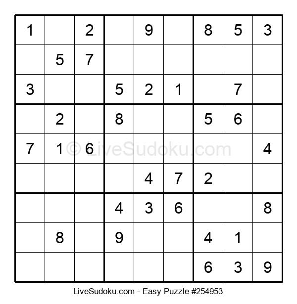 Beginners Puzzle #254953