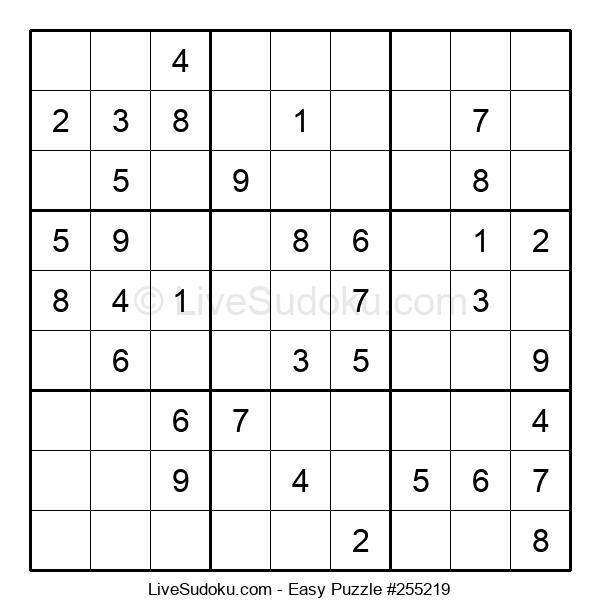 Beginners Puzzle #255219