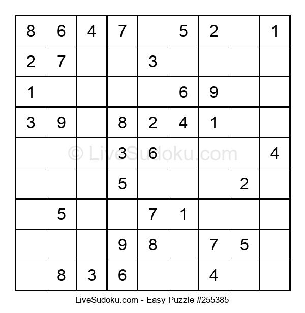 Beginners Puzzle #255385