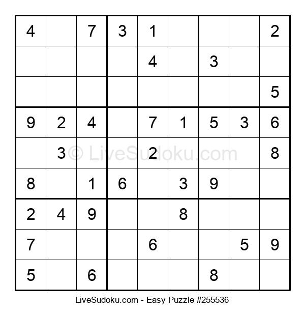 Beginners Puzzle #255536