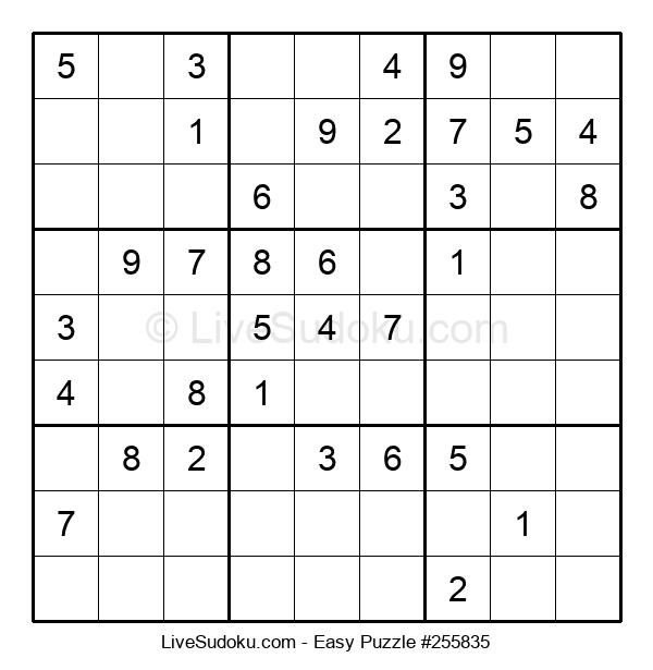 Beginners Puzzle #255835