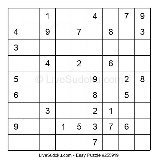 Beginners Puzzle #255919