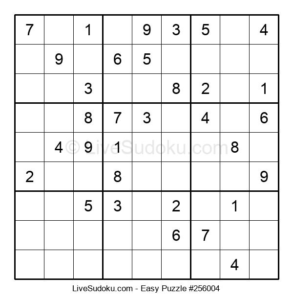 Beginners Puzzle #256004