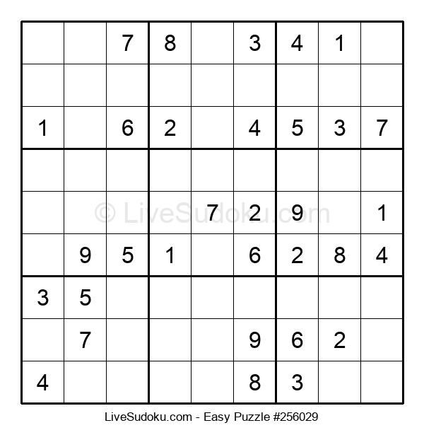 Beginners Puzzle #256029