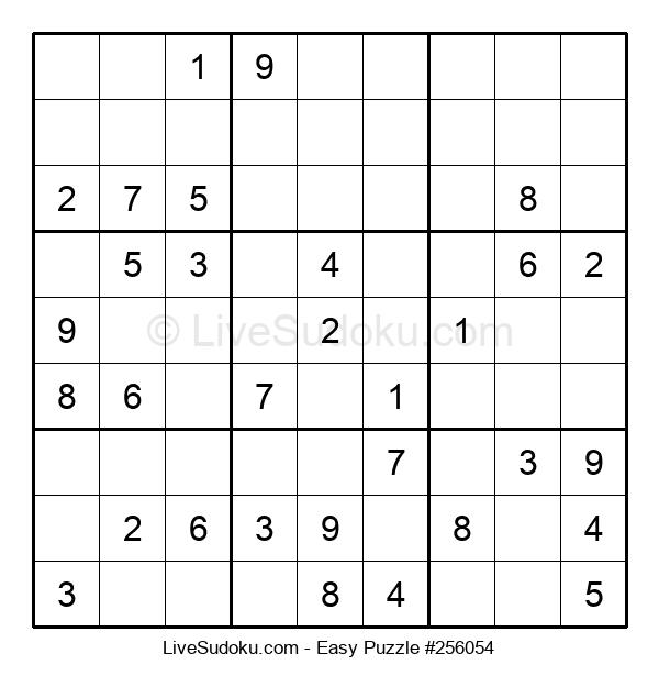Beginners Puzzle #256054