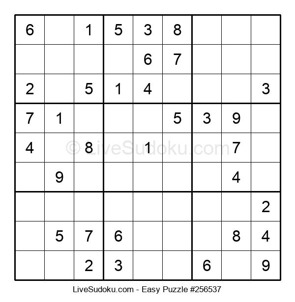 Beginners Puzzle #256537