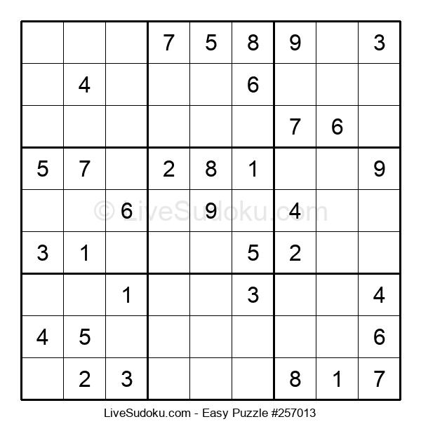 Beginners Puzzle #257013