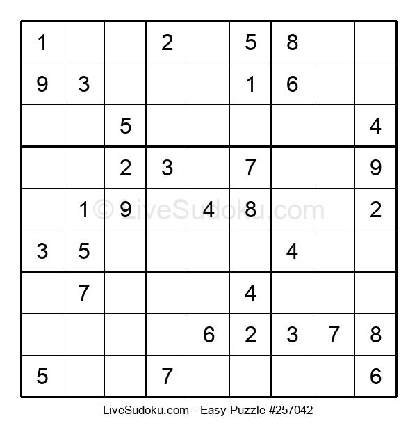 Beginners Puzzle #257042