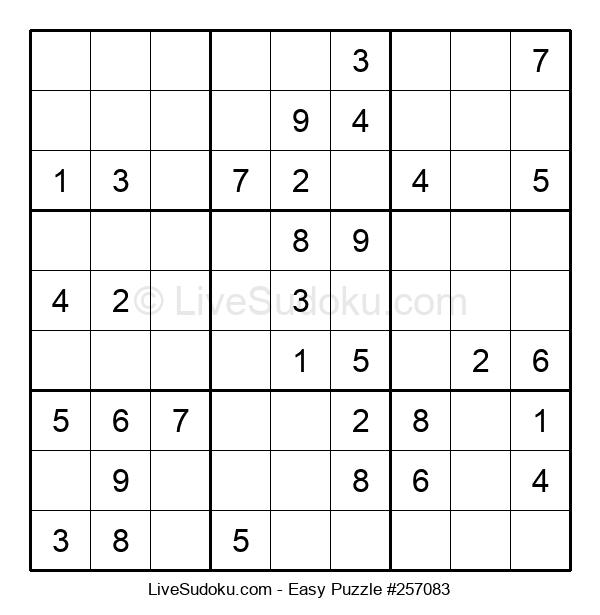Beginners Puzzle #257083