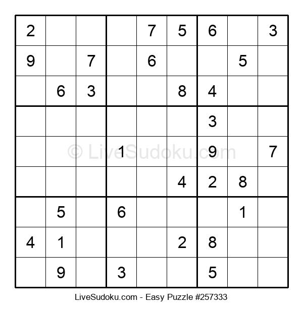 Beginners Puzzle #257333
