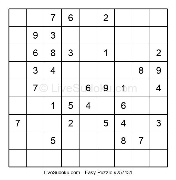 Beginners Puzzle #257431