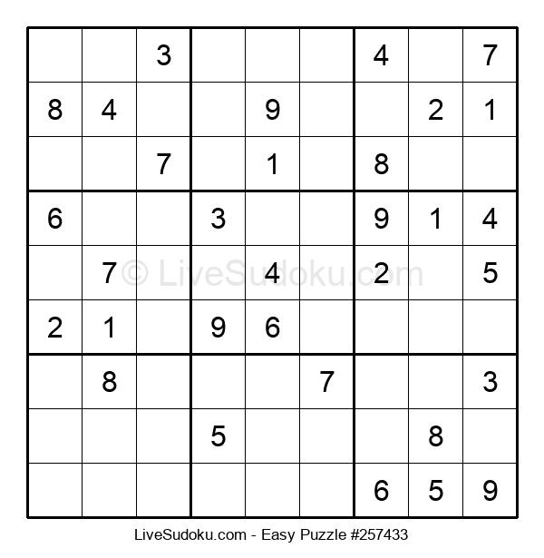 Beginners Puzzle #257433