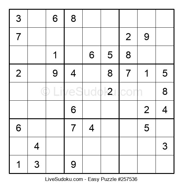 Beginners Puzzle #257536
