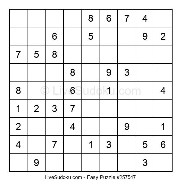 Beginners Puzzle #257547