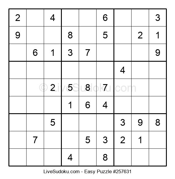 Beginners Puzzle #257631