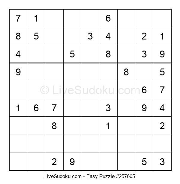 Beginners Puzzle #257665