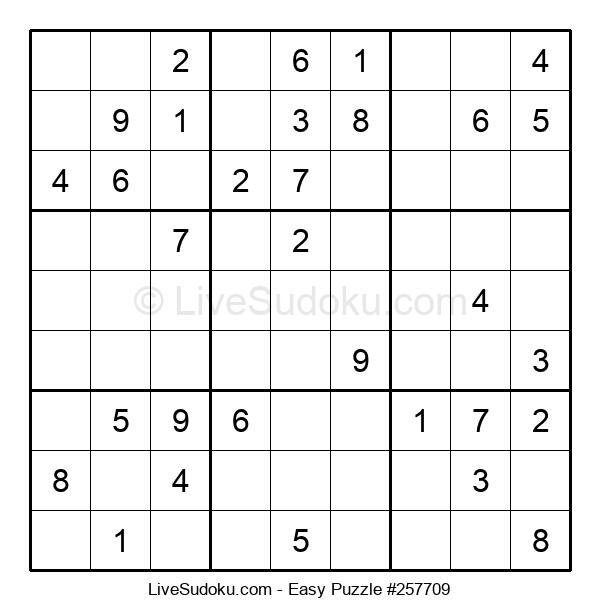 Beginners Puzzle #257709