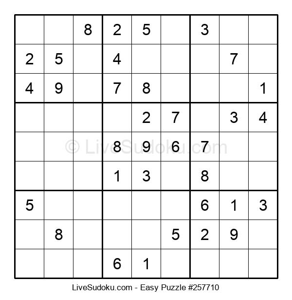 Beginners Puzzle #257710