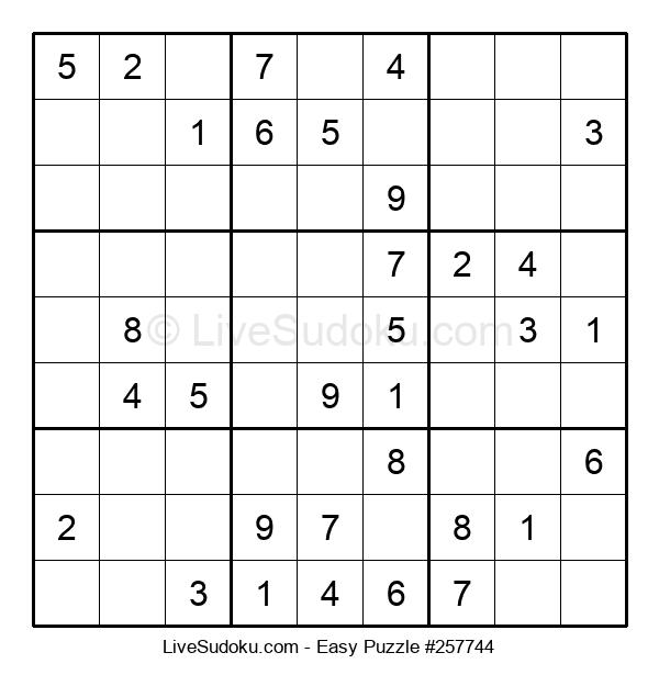 Beginners Puzzle #257744