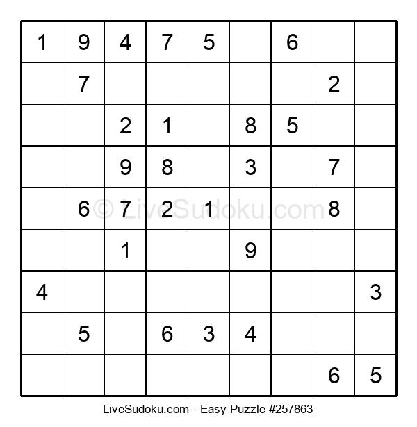 Beginners Puzzle #257863