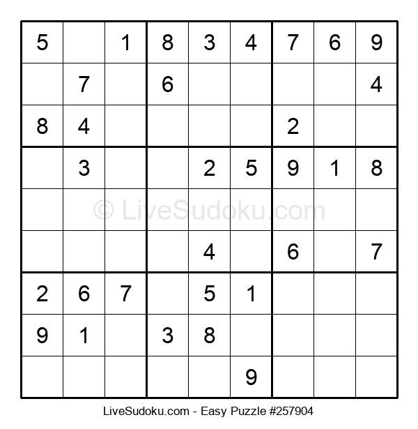 Beginners Puzzle #257904