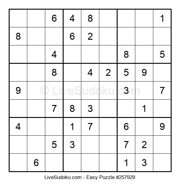 Beginners Puzzle #257929