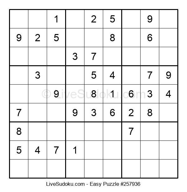 Beginners Puzzle #257936