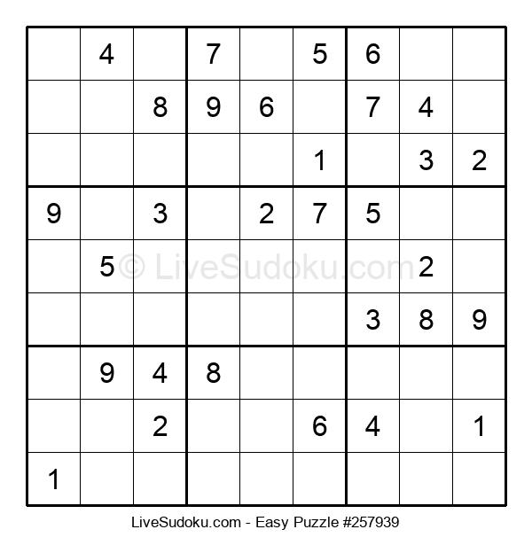 Beginners Puzzle #257939