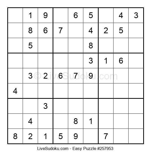 Beginners Puzzle #257953
