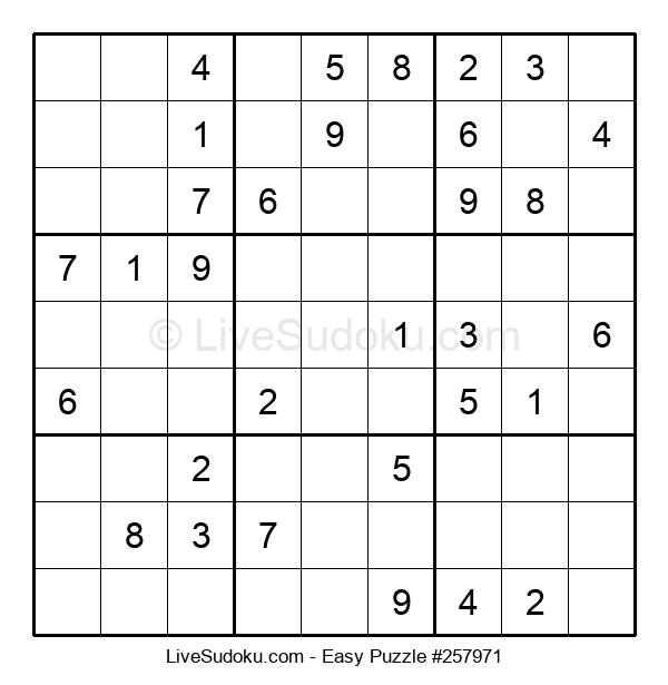 Beginners Puzzle #257971