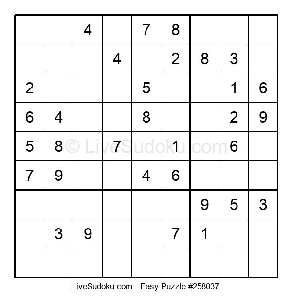 Beginners Puzzle #258037
