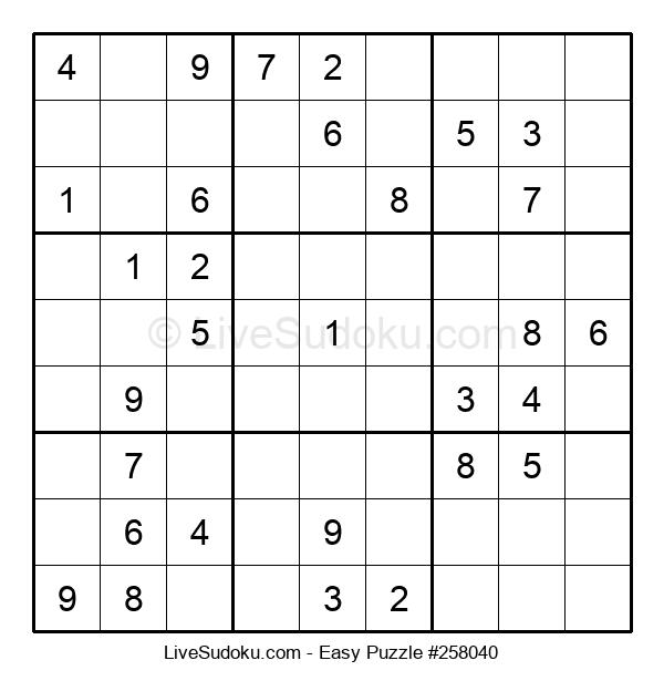 Beginners Puzzle #258040