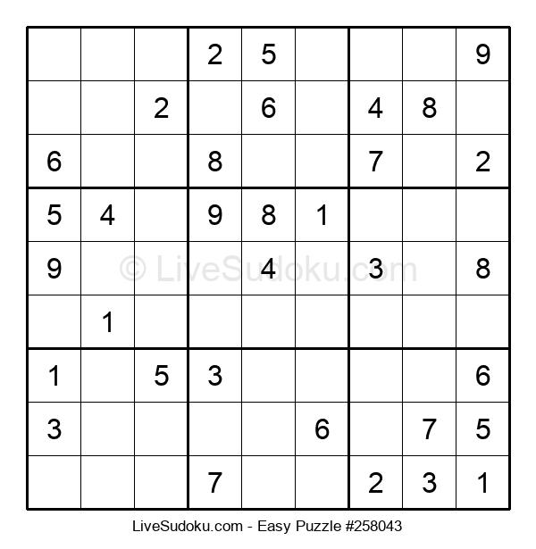 Beginners Puzzle #258043
