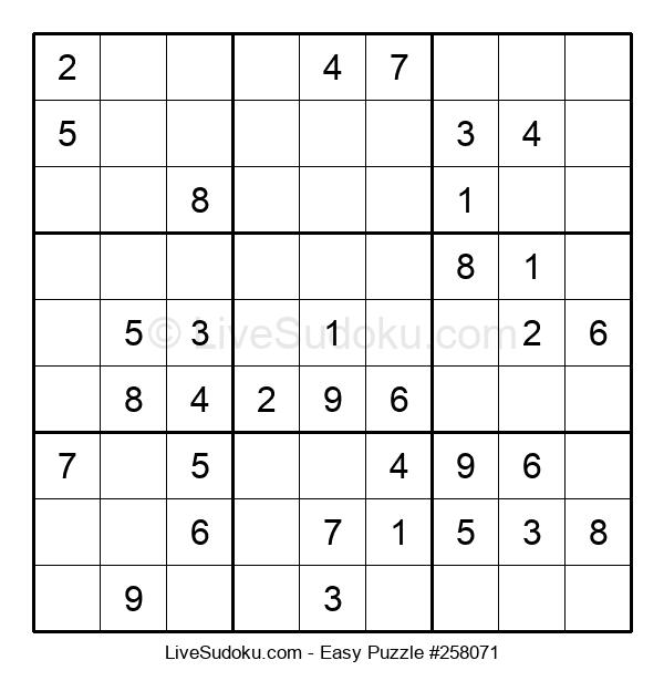 Beginners Puzzle #258071