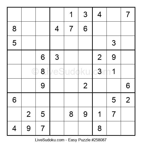 Beginners Puzzle #258087