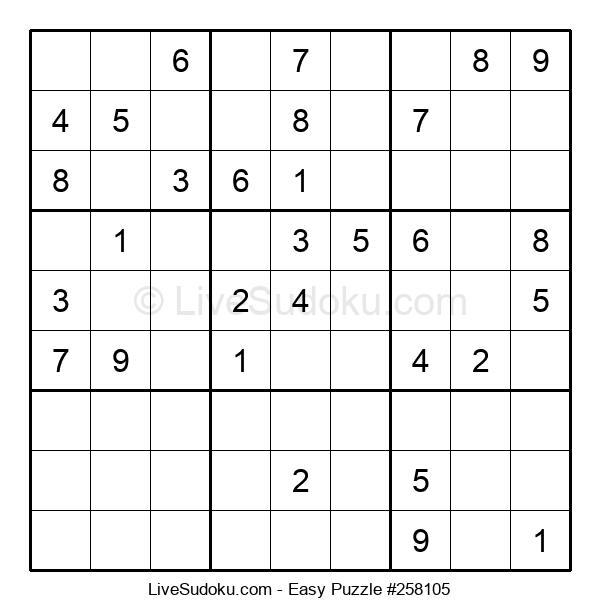 Beginners Puzzle #258105