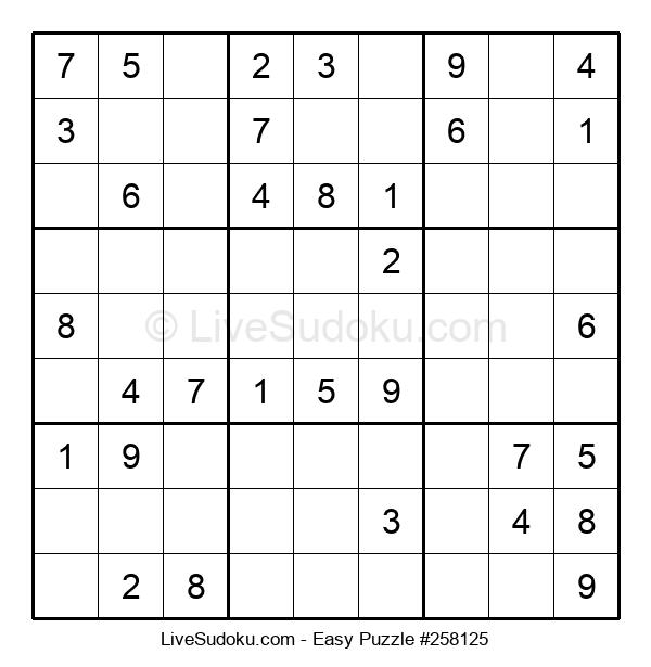 Beginners Puzzle #258125