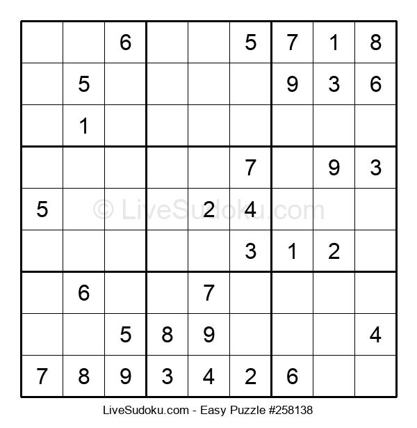 Beginners Puzzle #258138
