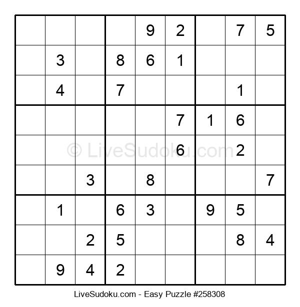 Beginners Puzzle #258308