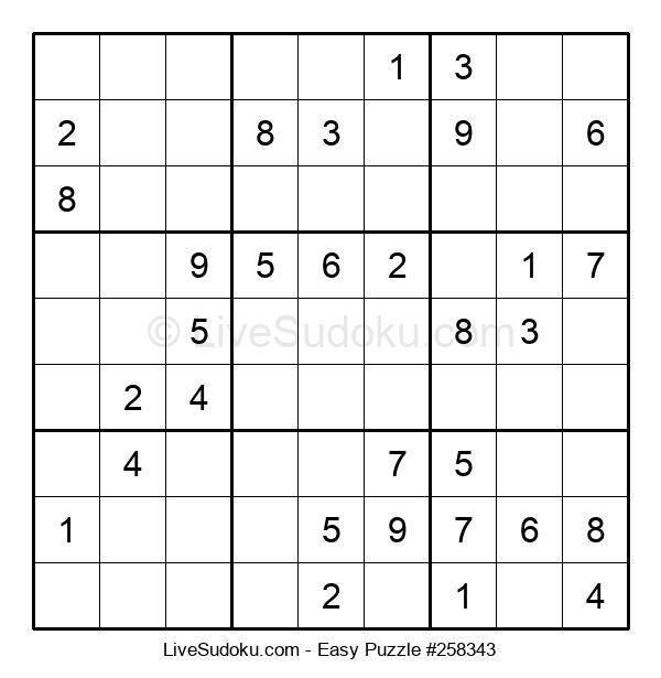 Beginners Puzzle #258343